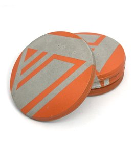 Ail+El Bright Orange Concrete Coaster