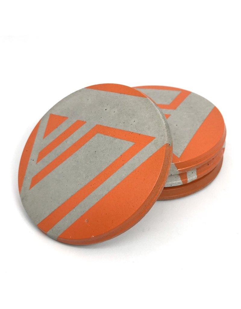 Ail+El Bright Orange Concrete Coaster