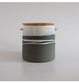 Paul Maloney Greystone Jar with Wooden Lid