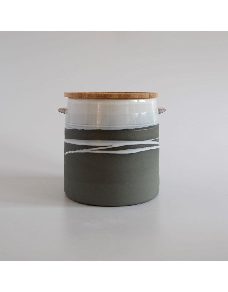 Paul Maloney Greystone Jar with Wooden Lid