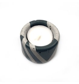 Ail+El Rhino Grey Concrete Tea Light Candle Holder
