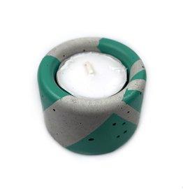 Ail+El Patina Green Concrete Tea Light Candle Holder