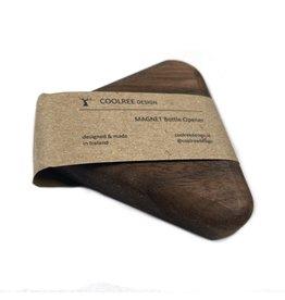 Coolree Design Magnet Bottle Opener Triangle Walnut