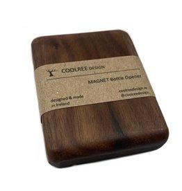 Coolree Design Magnet Bottle Opener Rectangle Walnut
