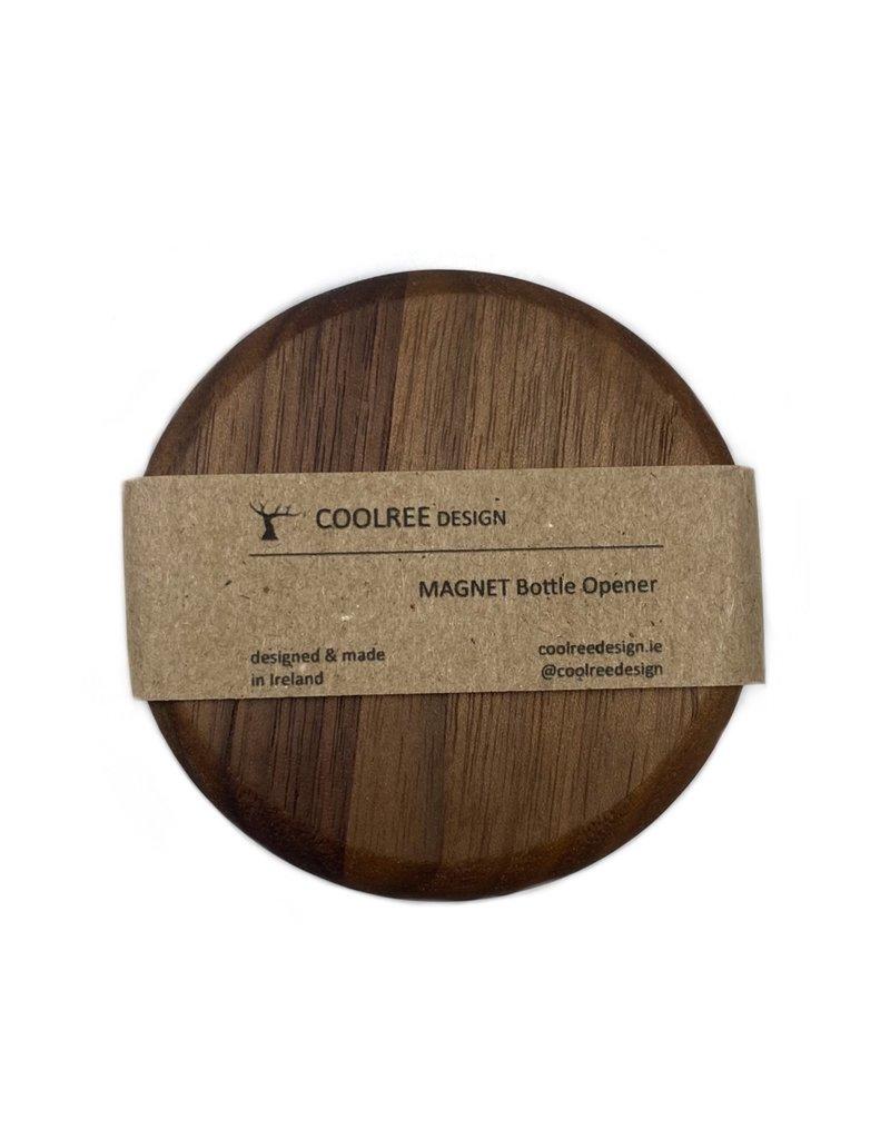 Coolree Design Magnet Bottle Opener Circle Walnut