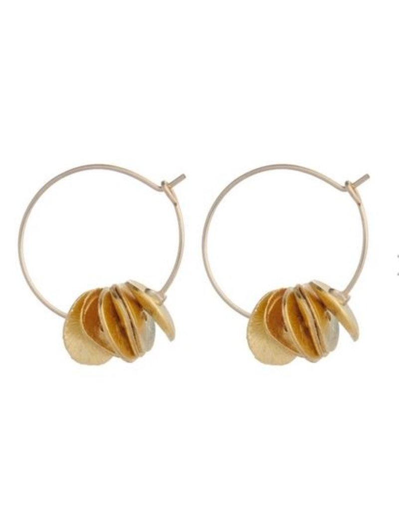 Vivien Walsh Gold Mini Petal Hoops