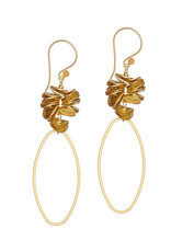 Vivien Walsh Gold Oval Earrings