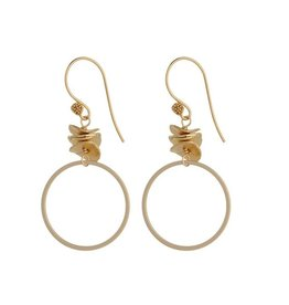 Vivien Walsh Gold Circle Earrings