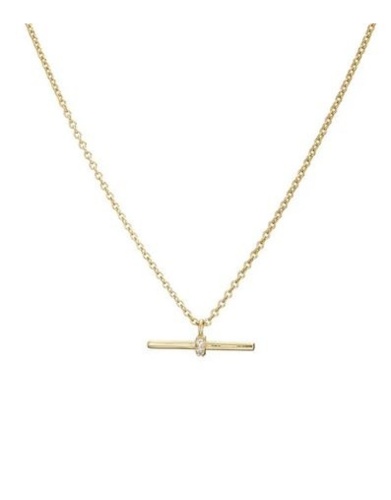 Mary k Jewellery Gold Pave T-Bar Necklace