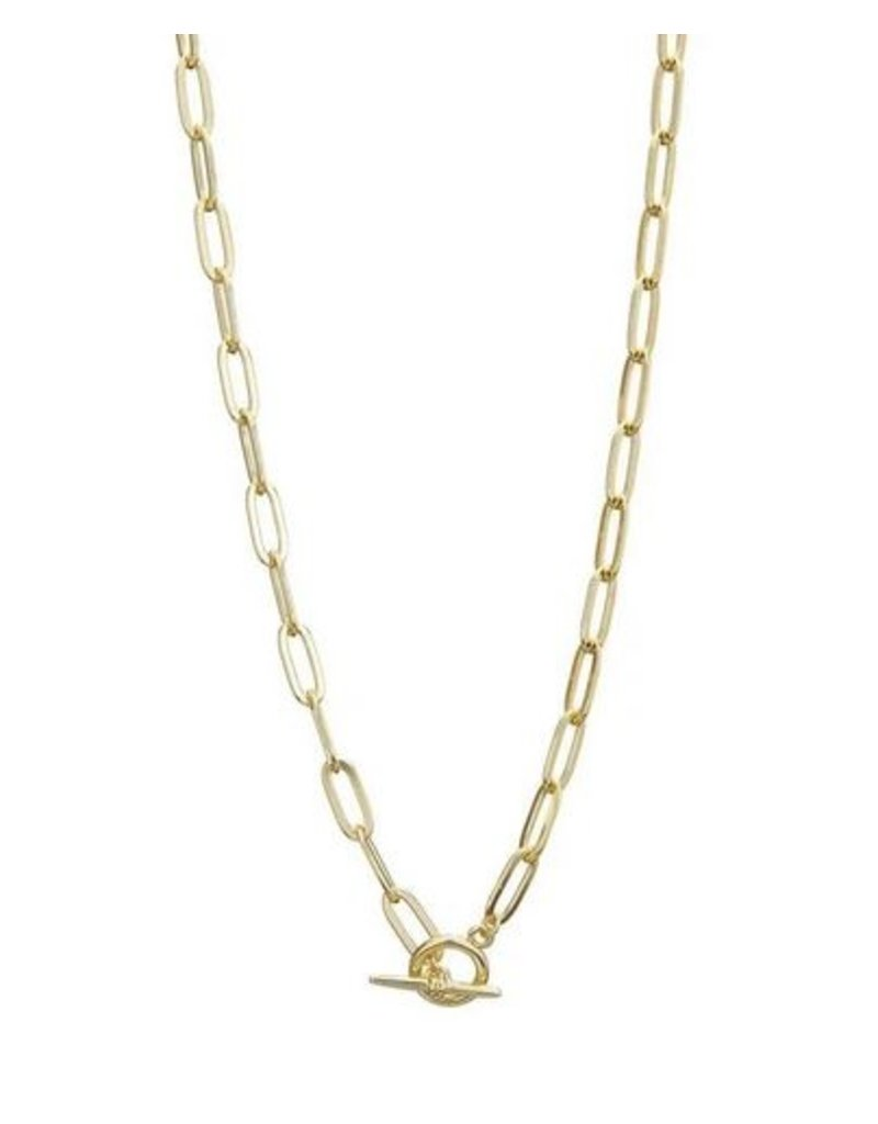Mary k Jewellery Gold Chain T-Bar Necklace