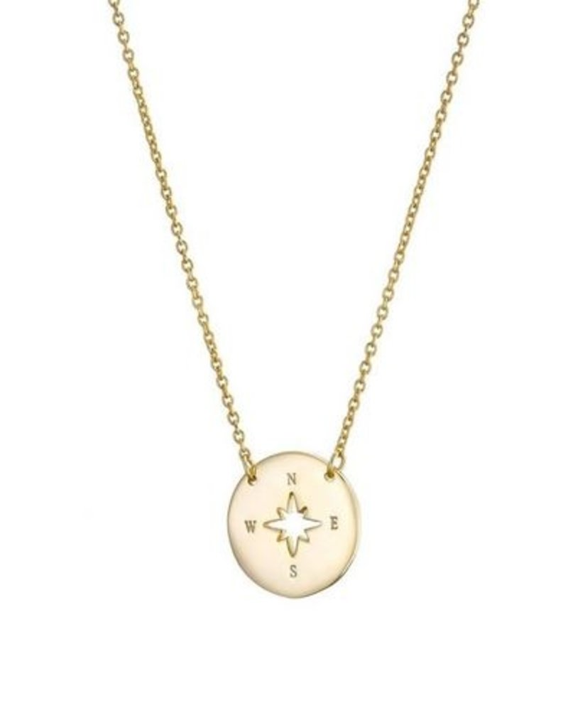Mary k Jewellery Gold Cutout Compass Necklace