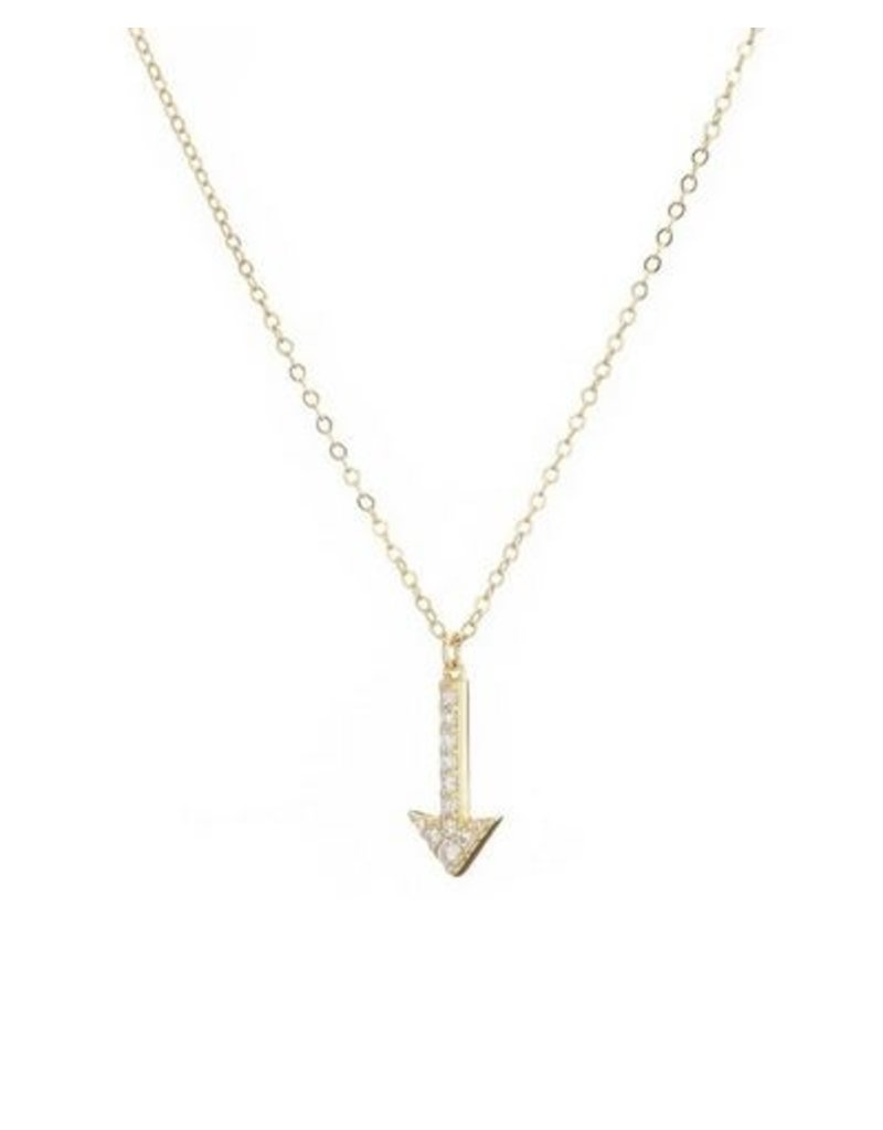 Mary k Jewellery Gold Pave Arrow Necklace