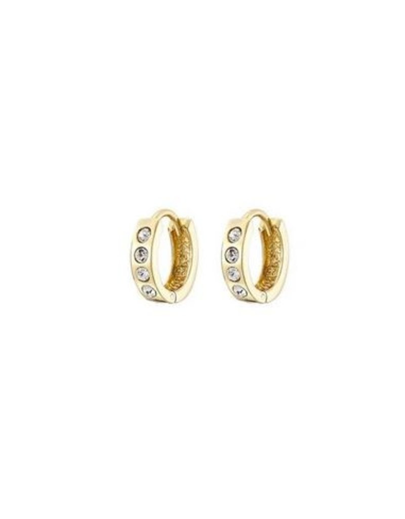 Mary k Jewellery Gold Pave Chunky Huggie Earrings