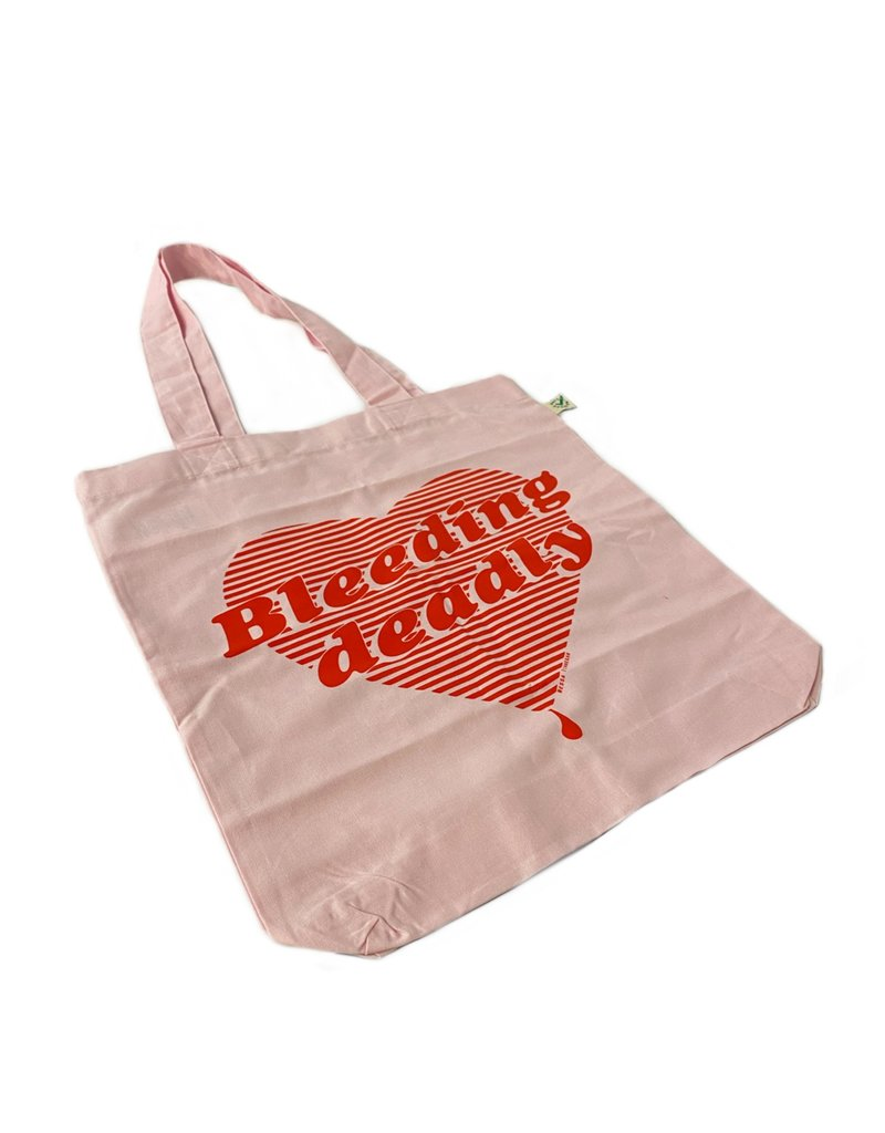 Nessa Finnegan Bleeding Deadly Pink Tote Bag