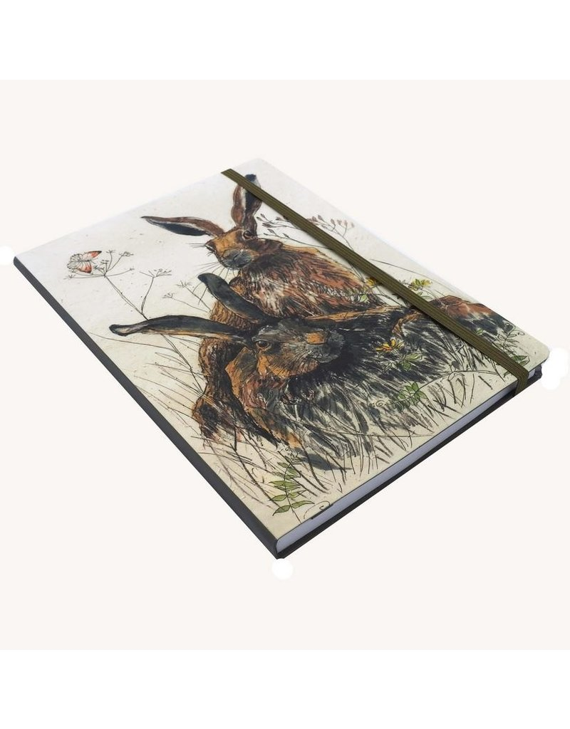 Annabel Langrish Two Hares A5 Notebook