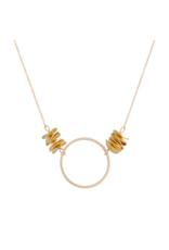 Vivien Walsh Gold Circle Necklace