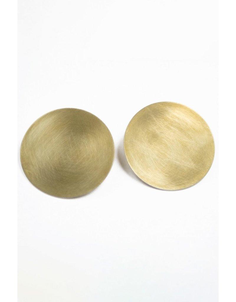 Daki Daki Design Brass Solis Stud Earrings