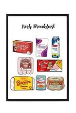 Finger Doodles Irish Breakfast A4 Print