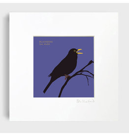 Bex Shelford Mounted Blackbird Print