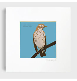 Bex Shelford Mounted Song Thrush Print