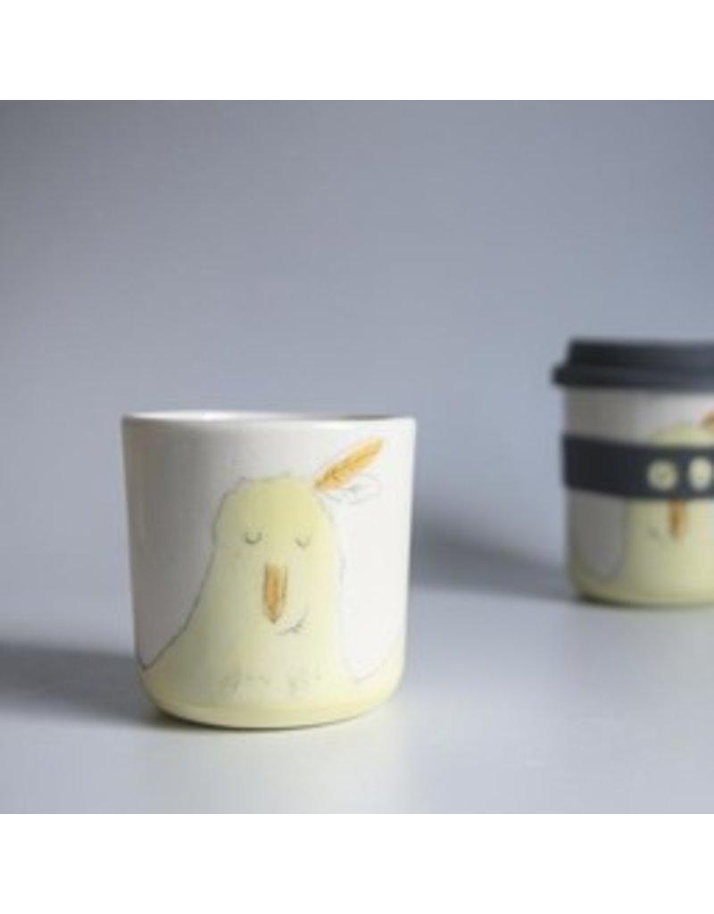 Karo Art Bandit / Superhero Porcelain Takeaway Cup - Chicken