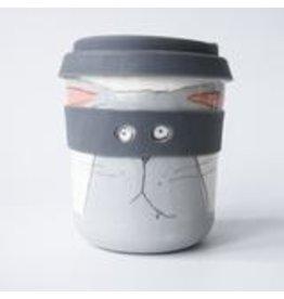 Karo Art Bandit / Superhero Porcelain Takeaway Cup - Hare