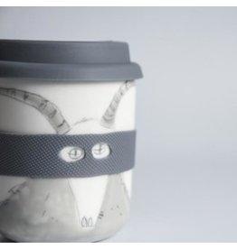 Karo Art Bandit / Superhero Porcelain Takeaway Cup -Goat
