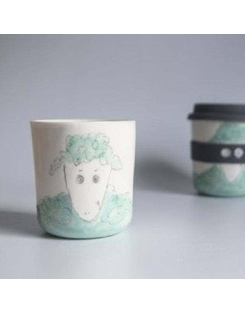 Karo Art Bandit / Superhero Reusable Takeaway Cup -Sheep