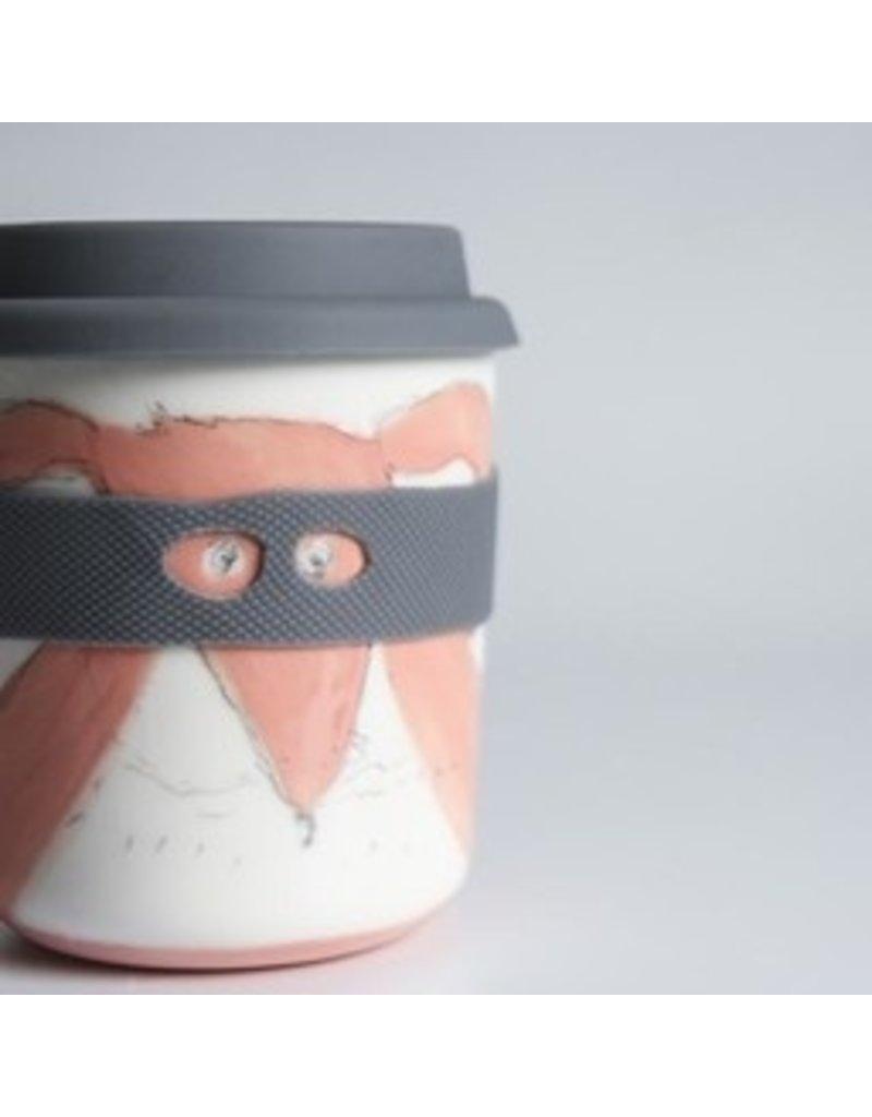 Karo Art Bandit / Superhero Reusable Takeaway Cup - Rabbit