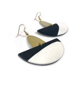 Daki Daki Design Brass Scout Earrings