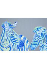 "Lorraine Fletcher '""Mom Knows Best"" Framed Zebra Print"