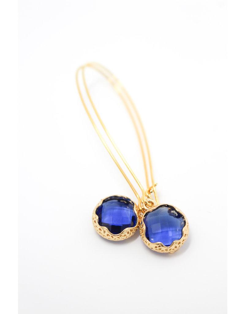 KKajoux Jewels Mini Zante Blue Long Earrings