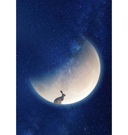 Marta Barcikowska Hare on The Moon A3 Print