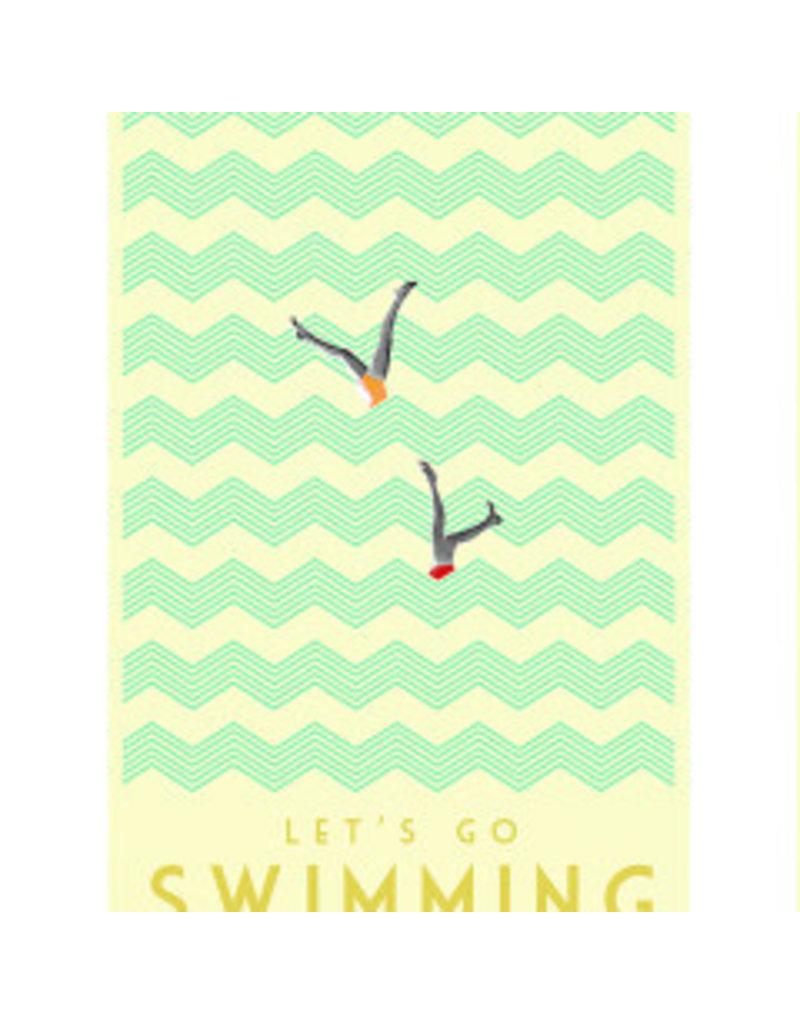 Marta Barcikowska Let's Go Swimming A3 Print