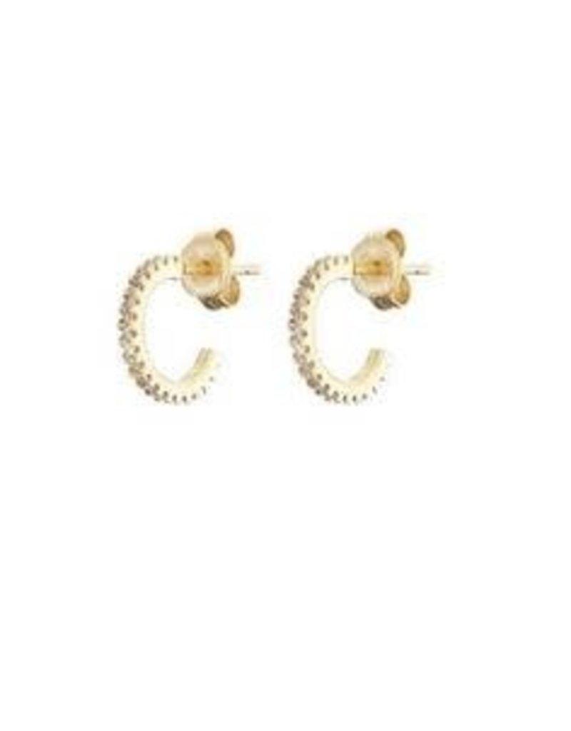 Mary k Jewellery Gold Pave Mini Hoop Earrings