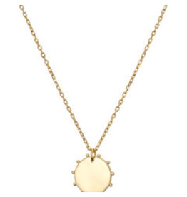 Mary k Jewellery Gold Disc and Dots Necklace