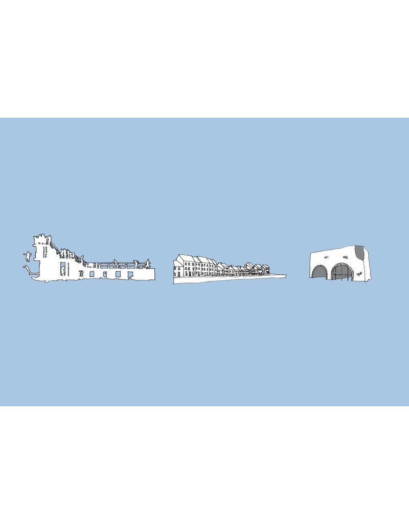 My Shop Collection Galway Icons A4 Print - Blue