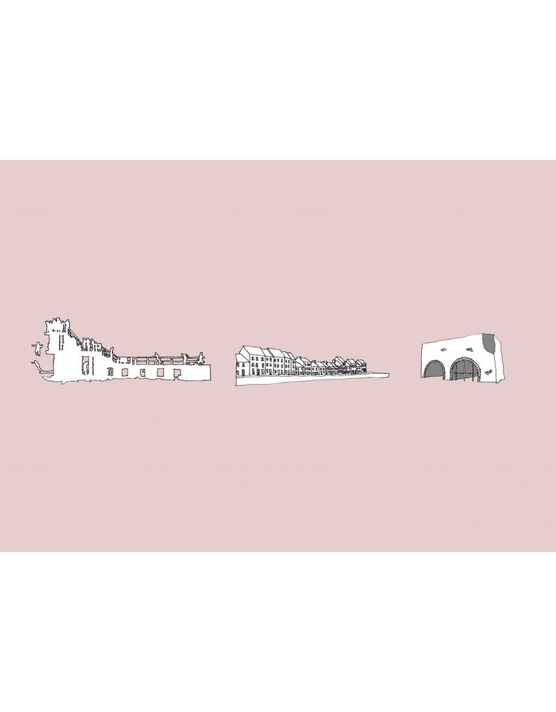 My Shop Collection Galway Icons A4 Print - Pink