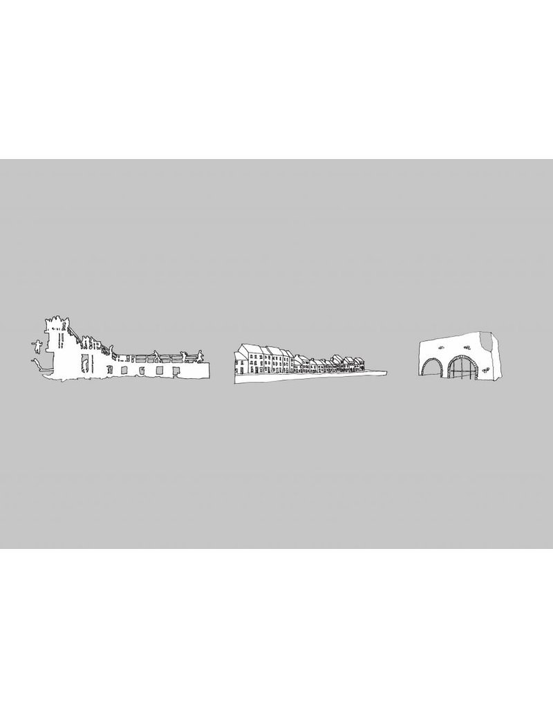 My Shop Collection Galway Icons A4 Print - Grey