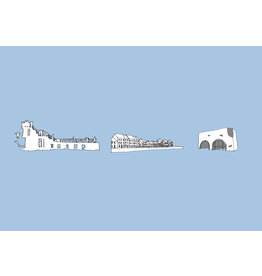 My Shop Collection Galway Icons A3 Print - Blue