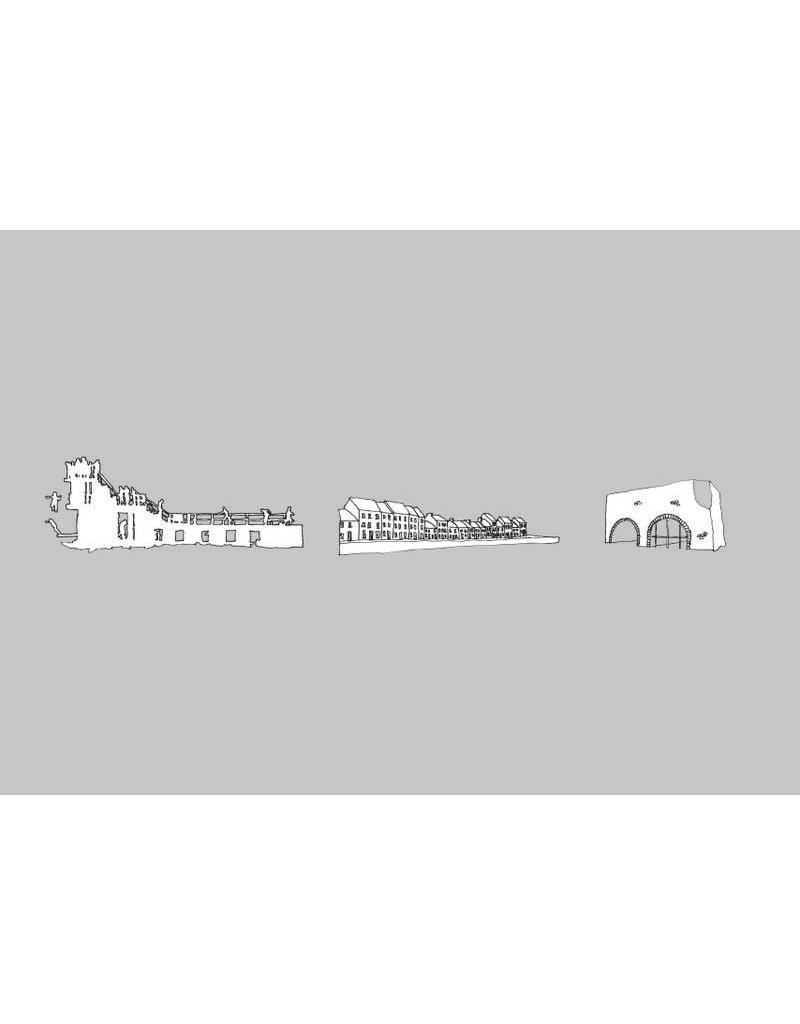 My Shop Collection Galway Icons A3 Print - Grey