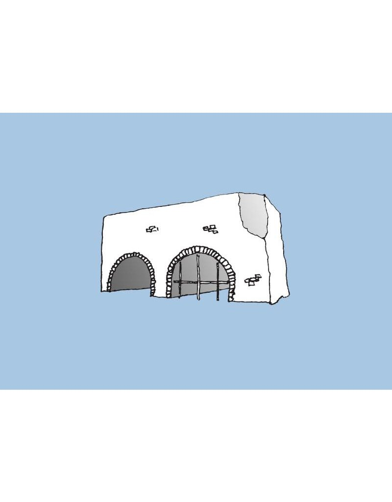 My Shop Collection Spanish Arch A3 Print- Blue
