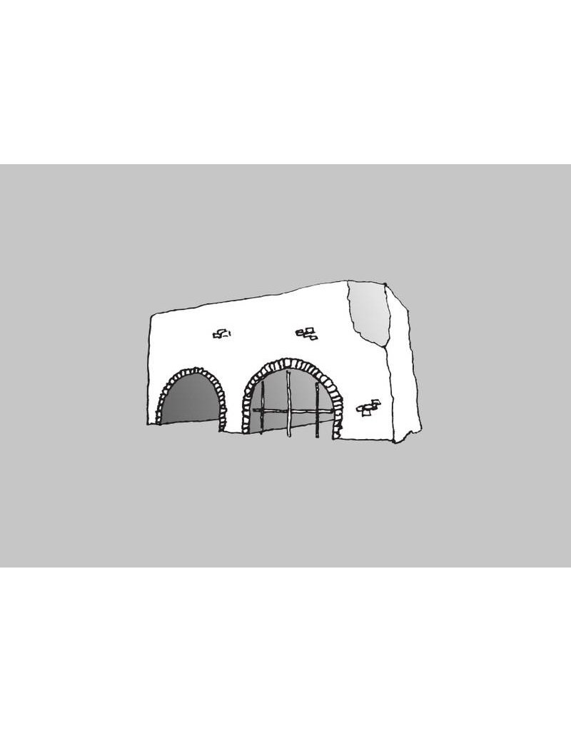 My Shop Collection Spanish Arch A3 Print- Grey