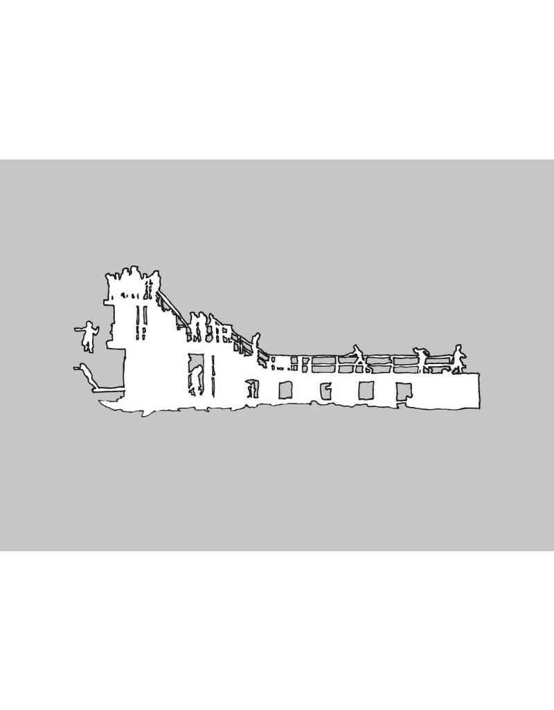 My Shop Collection Salthill Diving Board A3 Print- Grey