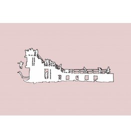 My Shop Collection Salthill Diving Board A4 Print- Pink