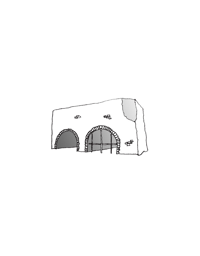 My Shop Collection Spanish Arch A4 Print- White and Grey