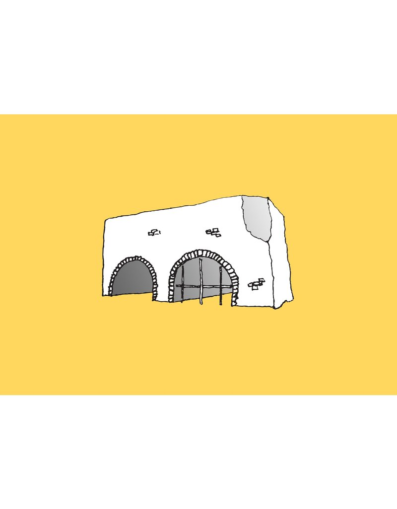 My Shop Collection Spanish Arch A4 Print- Yellow