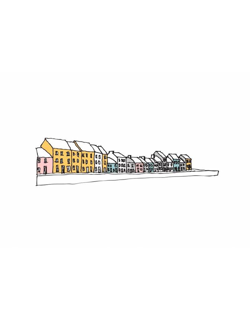My Shop Collection The Long Walk A4 Print - Multicolour