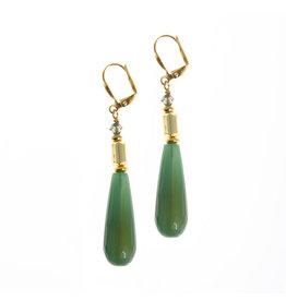 KKajoux Jewels Wilde Emerald Drop Short Earrings