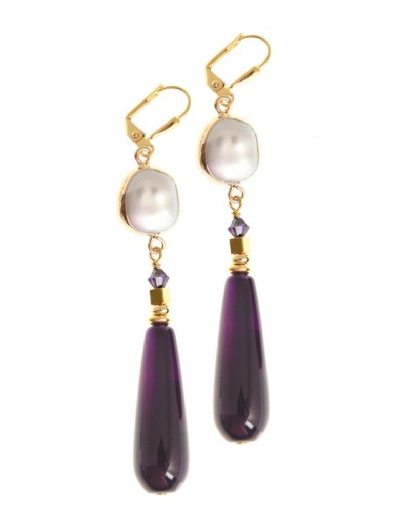 KKajoux Jewels Corcra Statement Earrings